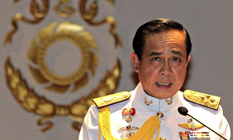 General Prayuth Chan-ocha tells journalists the king has endorsed him to run Thailand after the coup