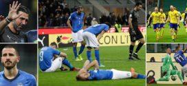 អ៊ីតាលីធ្លាក់ចេញពី World Cup ខណៈអ្នកចាំទី Buffon ចូលនិវត្តន៍
