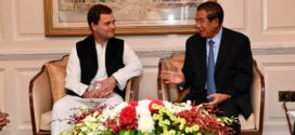 សម្តេចតេជោ ហ៊ុន សែន អញ្ជើញជួប លោក Rahul Gandhi កូនប្រុសអតីតនាយករដ្ឋមន្រ្តីឥណ្ឌា