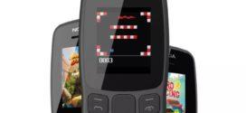 ទូរស័ព្ទ Nokia 106 មានអេក្រង់ 1.8 អ៊ីញដែលល្អឥតខ្ចោះសម្រាប់ game ពស់