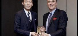 ប្រធានក្លិប Inter Milan លោក Steven Zhang ទទួលបានរង្វាន់ពីរដ្ឋាភិបាលអុីតាលី