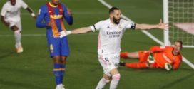 ក្រុម Real Madrid ហក់ឈរកំពូលតារាង La Liga របស់អេស្ប៉ាញ ក្រោយឈ្នះ Barcalona ក្នុងលទ្ធផល ២-១